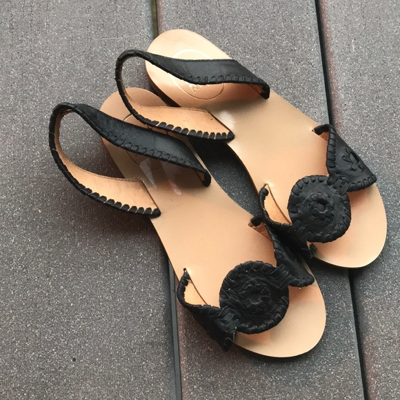 e5c2ac1e95a0 Jack Rogers Shoes - Jack Rogers Black Liliana sandals 6